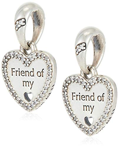 パンドラ ブレスレット アクセサリー ブランド かわいい Pandora Sterling Silver Hearts of Friendship Dangle Charm 792147CZパンドラ ブレスレット アクセサリー ブランド かわいい