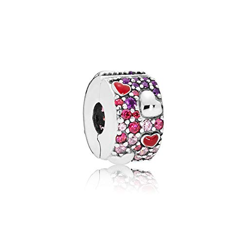 パンドラ ブレスレット アクセサリー ブランド かわいい Pandora Asymmetric Heart Of Love Clip Silver One Size Charm 797838CZRMXパンドラ ブレスレット アクセサリー ブランド かわいい