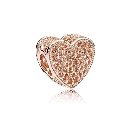 パンドラ ブレスレット アクセサリー ブランド かわいい PANDORA Filled With Romance Charm, PANDORA Rose, One Sizeパンドラ ブレスレット アクセサリー ブランド かわいい