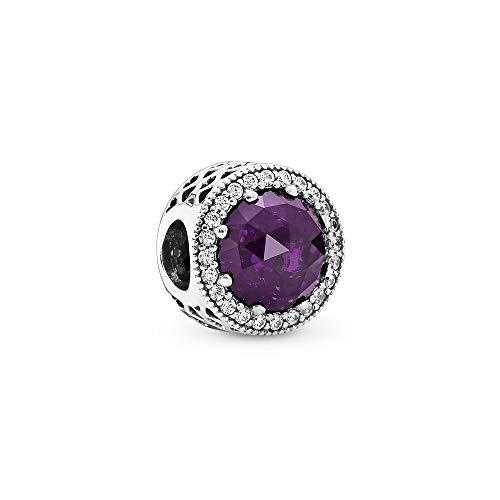 パンドラ ブレスレット アクセサリー ブランド かわいい PANDORA 791725NRP Radiant Hearts Charm, Royal Purpleパンドラ ブレスレット アクセサリー ブランド かわいい