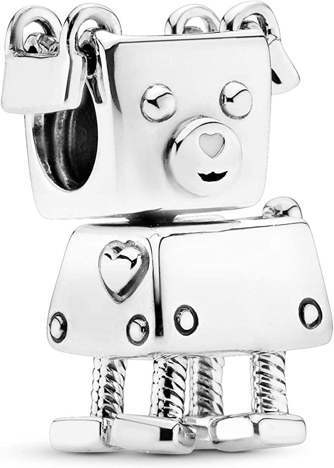 パンドラ ブレスレット アクセサリー ブランド かわいい 【送料無料】Pandora Jewelry Bobby Bot Sterling Silver Charmパンドラ ブレスレット アクセサリー ブランド かわいい