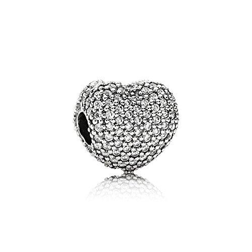 パンドラ ブレスレット アクセサリー ブランド かわいい Pandora Sterling Silver Open My Heart Clip Charm 791427CZパンドラ ブレスレット アクセサリー ブランド かわいい