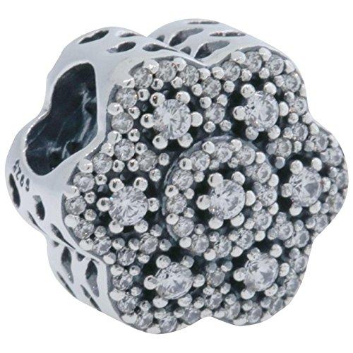 パンドラ ブレスレット アクセサリー ブランド かわいい Pandora Sterling Silver Crystalized Floral Charm 791998CZパンドラ ブレスレット アクセサリー ブランド かわいい