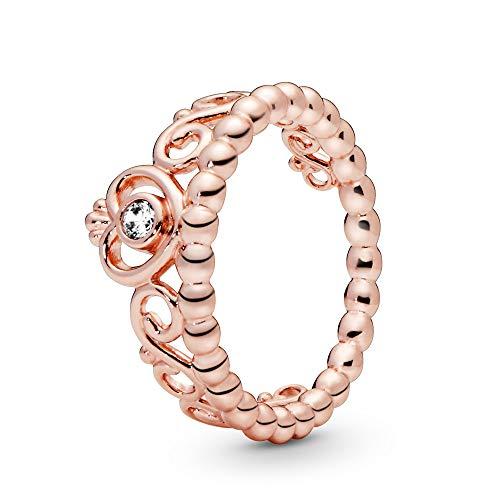 パンドラ ブレスレット アクセサリー ブランド かわいい PANDORA - Princess Tiara Crown Ring in PANDORA Rose with Clear Cubic Zirconia, Size 6 US / 52 EUROパンドラ ブレスレット アクセサリー ブランド かわいい