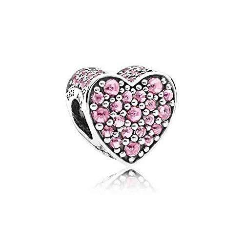 パンドラ ブレスレット アクセサリー ブランド かわいい Pandora Pink Dazzling Heart, Pink CZ 792069PCZ Charmパンドラ ブレスレット アクセサリー ブランド かわいい