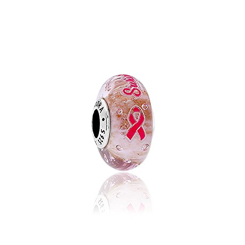 パンドラ ブレスレット アクセサリー ブランド かわいい Pandora Survivor Silver Charm with Pink Murano Glass & Enamel ENG7916701パンドラ ブレスレット アクセサリー ブランド かわいい