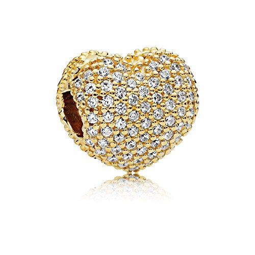 パンドラ ブレスレット アクセサリー ブランド かわいい Pandora Shine Pave Open My Heart Clip Charm 767156CZパンドラ ブレスレット アクセサリー ブランド かわいい