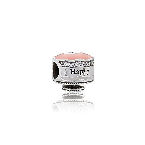 パンドラ ブレスレット アクセサリー ブランド かわいい Pandora Sterling Silver Happy Birthday Cake Charm 792061ENMXパンドラ ブレスレット アクセサリー ブランド かわいい