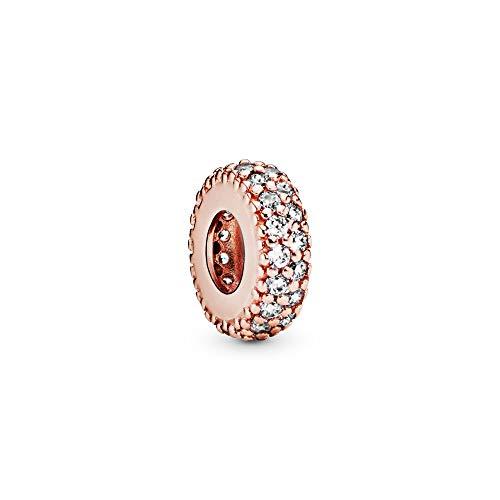 パンドラ ブレスレット アクセサリー ブランド かわいい 【送料無料】Pandora Jewelry Clear Sparkle Spacer Cubic Zirconia Charm in Pandora Roseパンドラ ブレスレット アクセサリー ブランド かわいい