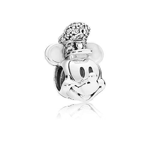 パンドラ ブレスレット アクセサリー ブランド かわいい 【送料無料】PANDORA Disney Shimmering Steamboat Willie 925 Sterling Silver Charm - 797499CZパンドラ ブレスレット アクセサリー ブランド かわいい