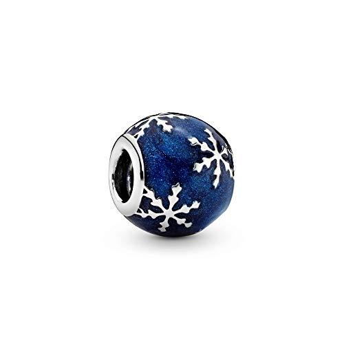 パンドラ ブレスレット アクセサリー ブランド かわいい Pandora Wintry Delight Silver Charm with Midnight Blue Enamel 796357EN63パンドラ ブレスレット アクセサリー ブランド かわいい
