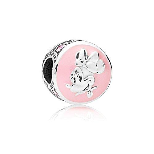 パンドラ ブレスレット アクセサリー ブランド かわいい Pandora Disney Vintage Minnie Silver Charm with Pink Enamel & CZ 797170EN96パンドラ ブレスレット アクセサリー ブランド かわいい