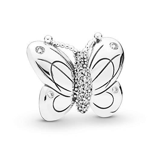 パンドラ ブレスレット アクセサリー ブランド かわいい PANDORA Decorative Butterfly 925 Sterling Silver Charm - 797880CZパンドラ ブレスレット アクセサリー ブランド かわいい