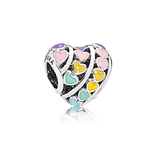 パンドラ ブレスレット アクセサリー ブランド かわいい Pandora Hearts Charm, Mixed Enamel, 797019ENMXパンドラ ブレスレット アクセサリー ブランド かわいい