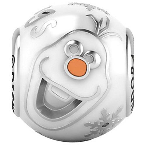 パンドラ ブレスレット アクセサリー ブランド かわいい PANDORA Disney Olaf Charm - I Like Warm Hugs White Enamel Beadパンドラ ブレスレット アクセサリー ブランド かわいい