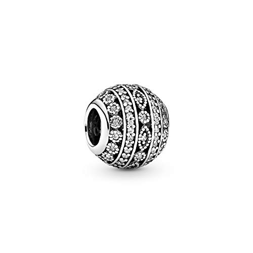 パンドラ ブレスレット アクセサリー ブランド かわいい PANDORA Glittering Shapes Charm, Sterling Silver, Clear Cubic Zirconia, One Sizeパンドラ ブレスレット アクセサリー ブランド かわいい