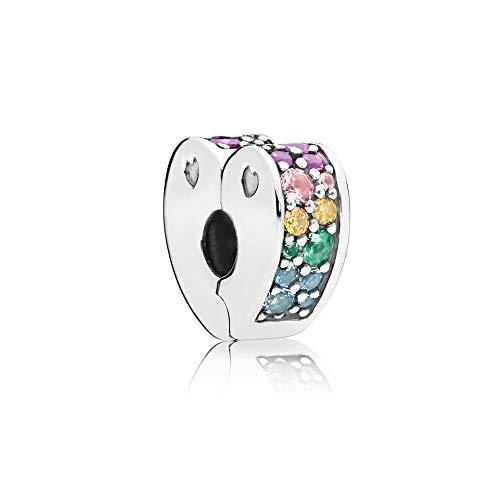 パンドラ ブレスレット アクセサリー ブランド かわいい Pandora Arcs of Love, Multi-Colored Cubic Zirconia and Crystals, 797020NRPMXパンドラ ブレスレット アクセサリー ブランド かわいい