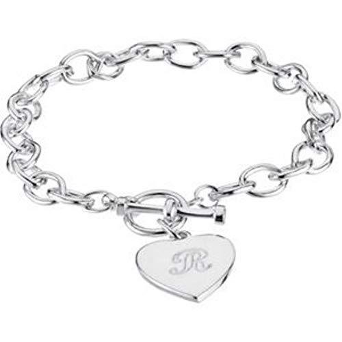 Bonyak Jewelry ブレスレット ジュエリー アメリカ アクセサリー Bonyak Jewelry Cable Toggle Bracelet 7mm with Heart Charm in Sterling SilverBonyak Jewelry ブレスレット ジュエリー アメリカ アクセサリー