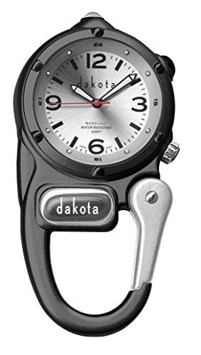 ダコタ カラビナウォッチ クリップ時計 【送料無料】Dakota Watch Company Mini Clip with Microlight Dial, Black/Silverダコタ カラビナウォッチ クリップ時計