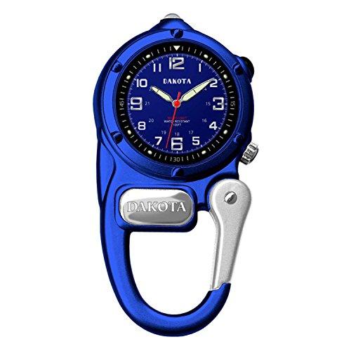 ダコタ カラビナウォッチ クリップ時計 【送料無料】Dakota Watch Company Watch Mini Clip with Microlight, Blueダコタ カラビナウォッチ クリップ時計