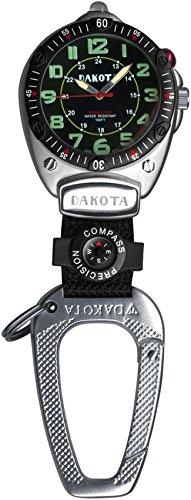 腕時計 ダコタ カラビナウォッチ クリップ時計 【送料無料】Dakota Easy-To-Read Flashlight Clip Watch - Black Fob腕時計 ダコタ カラビナウォッチ クリップ時計