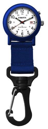 ダコタ カラビナウォッチ クリップ時計 【送料無料】Dakota Watch Company Light Backpacker Clip Watch with Dial Light, Blackダコタ カラビナウォッチ クリップ時計