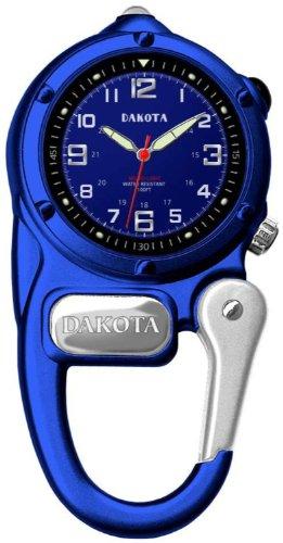 ダコタ カラビナウォッチ クリップ時計 【送料無料】Dakota Watch Company 3808-8 Mini Clip Microlight Clip-On Blue Timepieceダコタ カラビナウォッチ クリップ時計