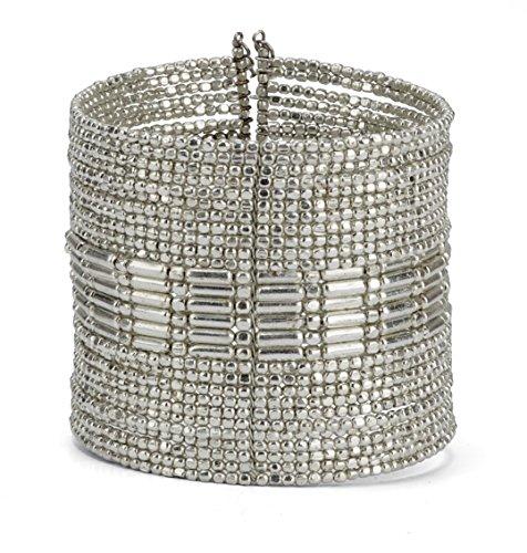 SPUNKYsoul ブレスレット アクセサリー ブランド かわいい SPUNKYsoul New! Boho Metal Cuff Bangle Bracelets for Women l Collection (Silver)SPUNKYsoul ブレスレット アクセサリー ブランド かわいい