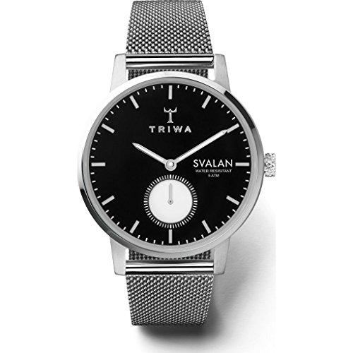 トリワ 腕時計 メンズ 北欧 ヨーロッパ Triwa Ebony Svalan Watch | Steel Mesh Super Slimトリワ 腕時計 メンズ 北欧 ヨーロッパ