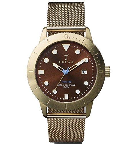 トリワ 腕時計 メンズ 北欧 ヨーロッパ Triwa Chestnut Brown Hvalen with Gold Mesh Band Unisex Men's Watch HVST104 ME021313トリワ 腕時計 メンズ 北欧 ヨーロッパ