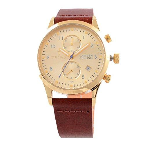 トリワ 腕時計 メンズ 北欧 ヨーロッパ 【送料無料】Triwa Gold Lansen Chrono Unisex Watch Cognac Classic Leather Strap LCST103 CL012913トリワ 腕時計 メンズ 北欧 ヨーロッパ