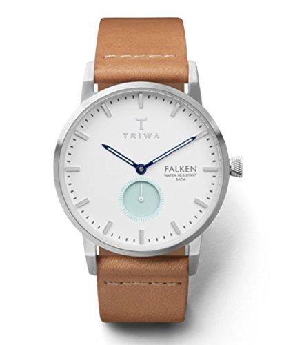 トリワ 腕時計 メンズ 北欧 ヨーロッパ 【送料無料】Triwa Wave Falken Watch | Tan Classic Strap - White/Blueトリワ 腕時計 メンズ 北欧 ヨーロッパ