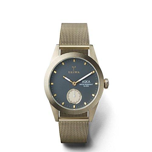 トリワ 腕時計 レディース 北欧 ヨーロッパ 【送料無料】Triwa Ash Aska AKST103MS121717 Gray / champagne Gold Stainless Steel Analog Quartz Women's Watchトリワ 腕時計 レディース 北欧 ヨーロッパ