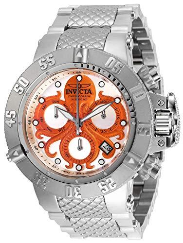 """インヴィクタ インビクタ サブアクア 腕時計 メンズ 【送料無料】Invicta Men""""s Subaqua Quartz Watch with Stainless Steel Strap, Silver, 28 (Model: 27872)インヴィクタ インビクタ サブアクア 腕時計 メンズ"""