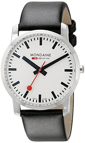 モンディーン 北欧 スイス 腕時計 メンズ Mondaine Unisex A6383035011SBB Simply Elegant Analog Display Swiss Quartz Black Watchモンディーン 北欧 スイス 腕時計 メンズ