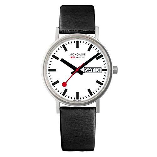 """モンディーン 北欧 スイス 腕時計 メンズ 【送料無料】Mondaine Men""""s A667.30314.11SBB Classic Gents Day-Date Leather Band Watchモンディーン 北欧 スイス 腕時計 メンズ"""