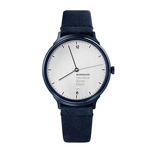 モンディーン 北欧 スイス 腕時計 メンズ 【送料無料】Mondaine Helvetica Stainless Steel Swiss-Quartz Watch with Leather Strap, Blue, 18 (Model: MH1.L2210.LD)モンディーン 北欧 スイス 腕時計 メンズ