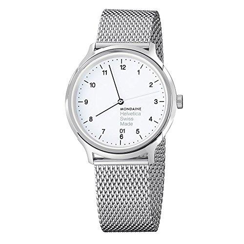 モンディーン 北欧 スイス 腕時計 メンズ 【送料無料】Mondaine Unisex MH1.R2210.SM Helvetica No1 Regular Analog Swiss Quartz Silver-Tone Stainless Steel Watchモンディーン 北欧 スイス 腕時計 メンズ