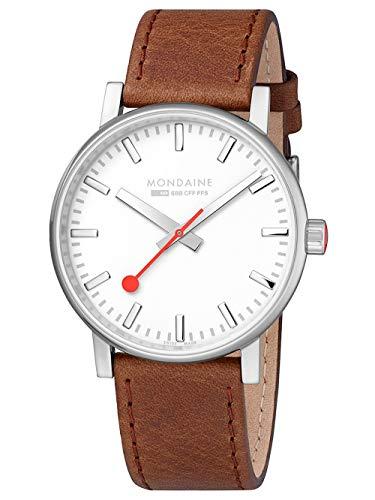 腕時計 モンディーン 北欧 スイス メンズ 【送料無料】Mondaine evo2 Big Brown Leather Strap Men's Watch腕時計 モンディーン 北欧 スイス メンズ
