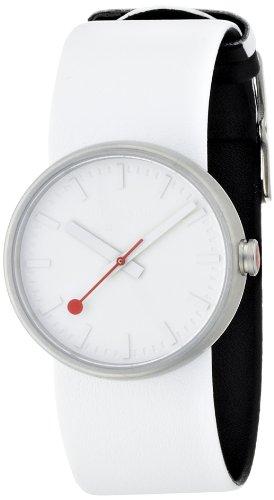 モンディーン 北欧 スイス 腕時計 メンズ 【送料無料】Mondaine SBB Stainless Steel Quartz Watch with Leather Strap, White, 24 (Model: A658.30306.16SBA)モンディーン 北欧 スイス 腕時計 メンズ