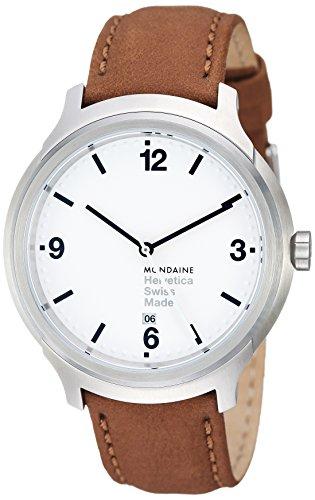 腕時計 モンディーン 北欧 スイス メンズ 【送料無料】Mondaine Unisex MH1.B1210.LG Helvetica No1 Bold Analog Quartz Brown Watch腕時計 モンディーン 北欧 スイス メンズ