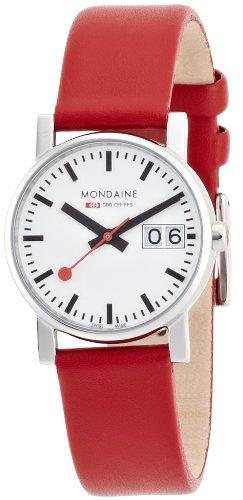 腕時計 モンディーン 北欧 スイス レディース 【送料無料】Mondaine Women's A669.30305.11SBC Ladies Big Date Leather Band Watch腕時計 モンディーン 北欧 スイス レディース