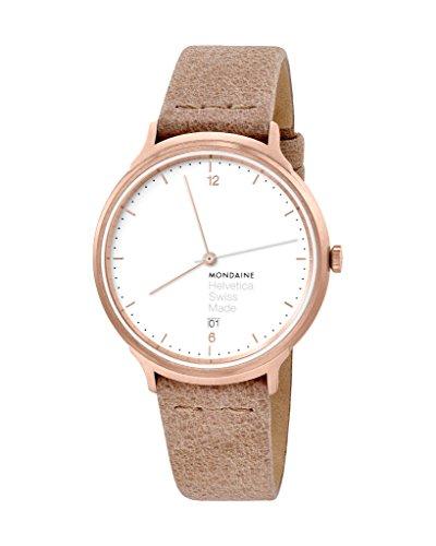 モンディーン 北欧 スイス 腕時計 レディース 【送料無料】Mondaine Women's Helvetica Stainless Steel Swiss-Quartz Watch with Leather Strap, Orange, 18 (Model: MH1.L2211.LG)モンディーン 北欧 スイス 腕時計 レディース