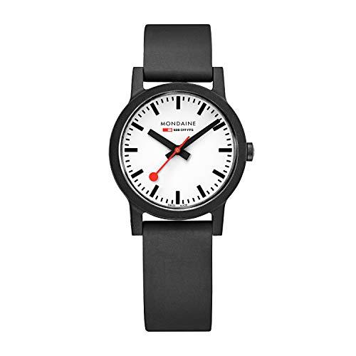 モンディーン 北欧 スイス 腕時計 レディース 【送料無料】Mondaine Women's SBB Stainless Steel Essence Swiss Quartz Watch with Rubber Strap, Black (Model: MS1.32110.RB)モンディーン 北欧 スイス 腕時計 レディース