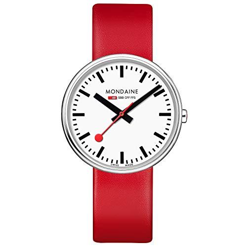 モンディーン 北欧 スイス 腕時計 レディース 【送料無料】Mondaine Women's SBB Stainless Steel Swiss-Quartz Watch with Leather Strap, red (Model: MSX.3511B.LC)モンディーン 北欧 スイス 腕時計 レディース