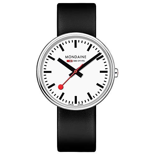 モンディーン 北欧 スイス 腕時計 レディース 【送料無料】Mondaine Women's SBB Stainless Steel Swiss-Quartz Watch with Leather Strap, Black (Model: MSX.3511B.LB)モンディーン 北欧 スイス 腕時計 レディース
