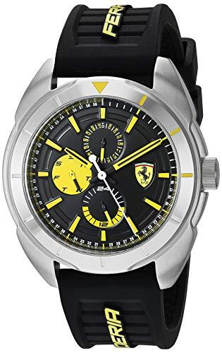 フェラーリ 腕時計 メンズ 【送料無料】Ferrari Forza, Quartz Stainless Steel and Silicone Strap Casual Watch, Black, Men, 830575フェラーリ 腕時計 メンズ