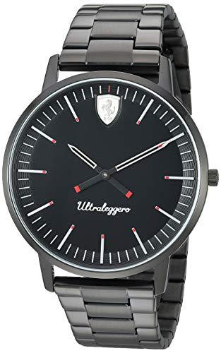 フェラーリ 腕時計 メンズ 【送料無料】Ferrari Men's Ultraleggero Quartz Watch with Stainless-Steel Strap, Black, 20 (Model: 0830563)フェラーリ 腕時計 メンズ