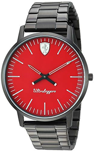 フェラーリ 腕時計 メンズ Ferrari Men's Ultraleggero Quartz Watch with Stainless-Steel Strap, Black, 20 (Model: 0830564)フェラーリ 腕時計 メンズ