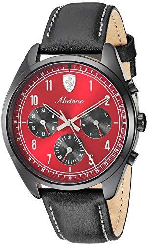 フェラーリ 腕時計 メンズ 【送料無料】Ferrari Men's Abetone Stainless Steel Quartz Watch with Leather Strap, Black, 20 (Model: 0830571)フェラーリ 腕時計 メンズ